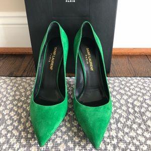 Authentic Saint Laurent Suede Heels - Size 36